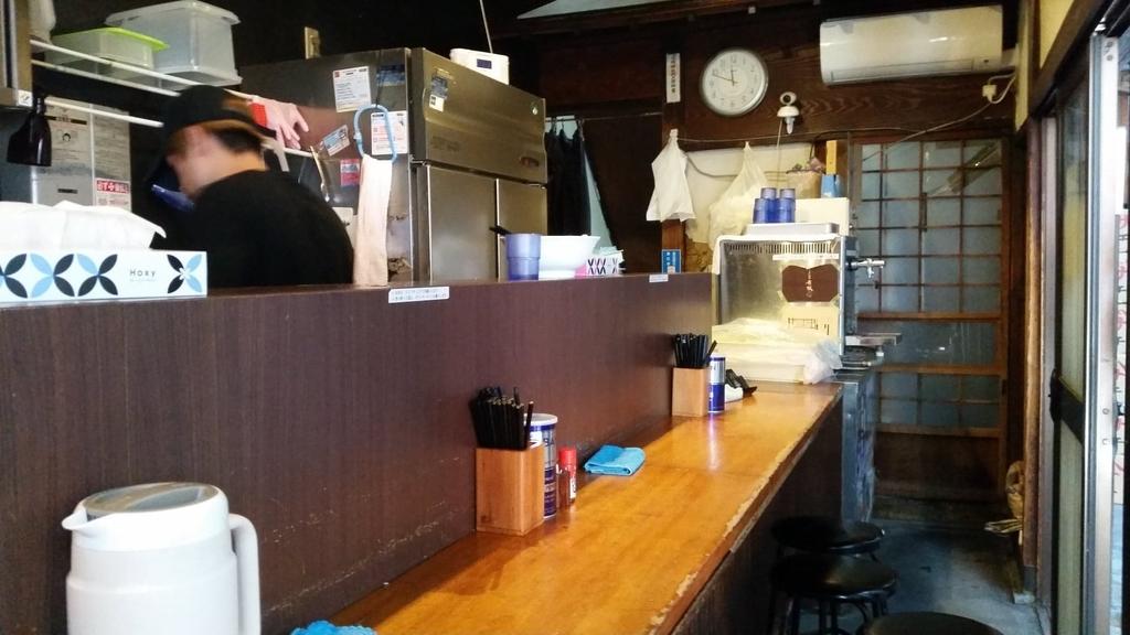 自家製麺伊藤の店内