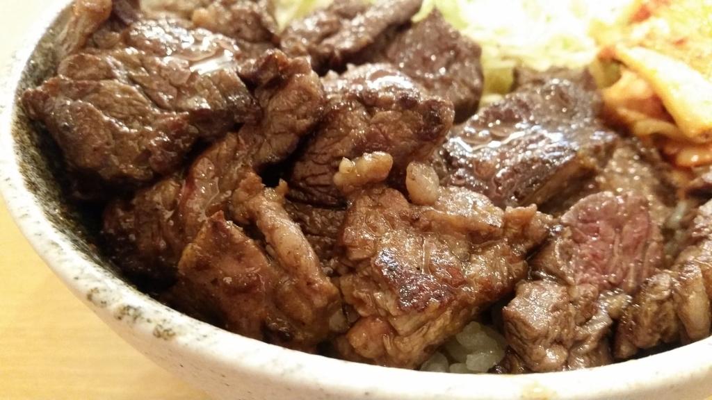 記事トップの肉丼画像