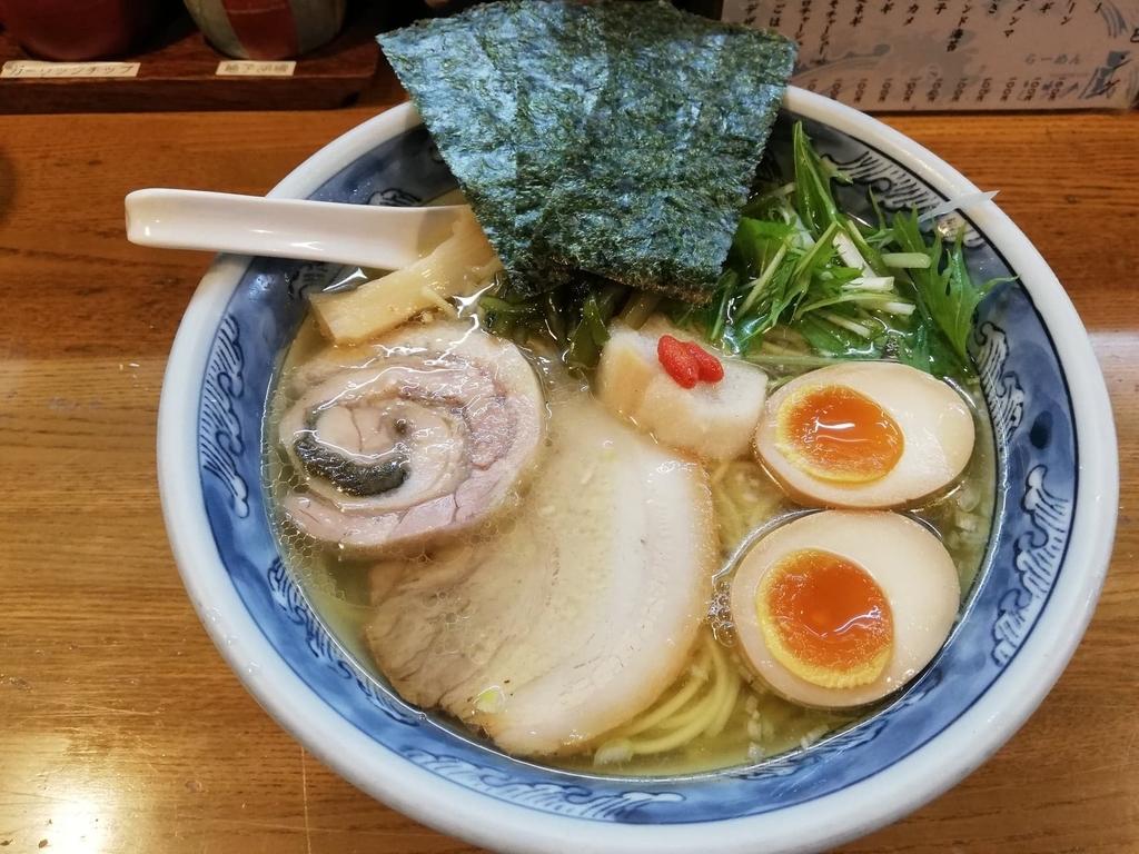 竹ノ塚『らーめんしおの風』の特選塩ラーメン