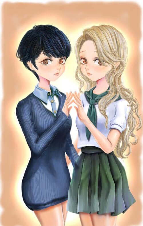 少女漫画風イラスト