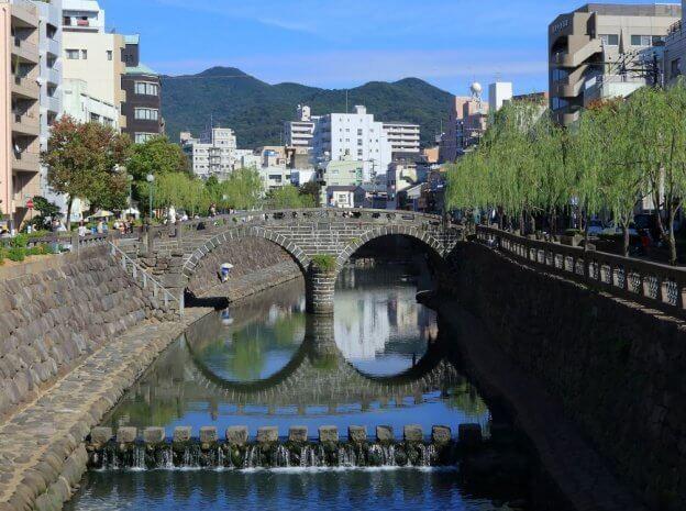 長崎『眼鏡(めがね)橋』の写真