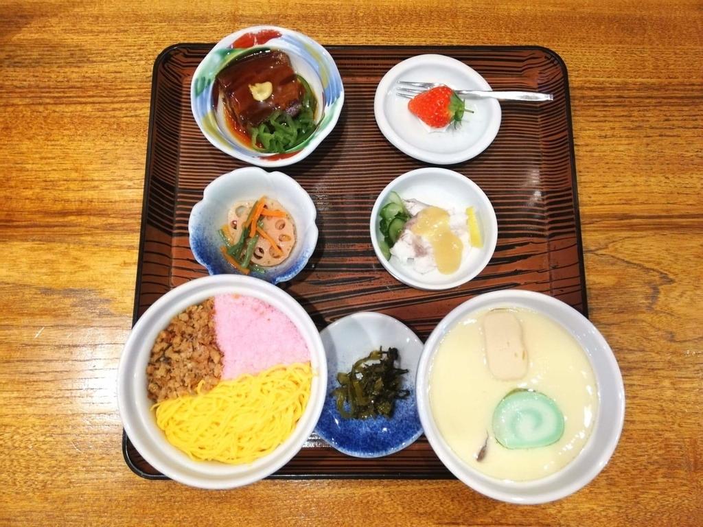 長崎『吉宗本店』の吉宗定食を上から撮った写真