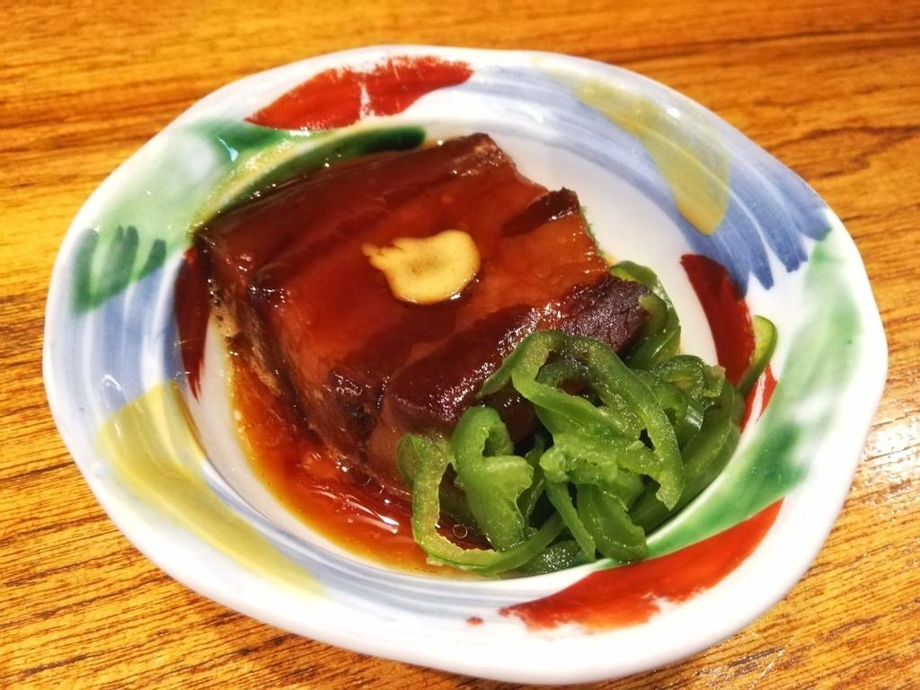 長崎『吉宗本店』の吉宗定食の、豚の角煮の写真
