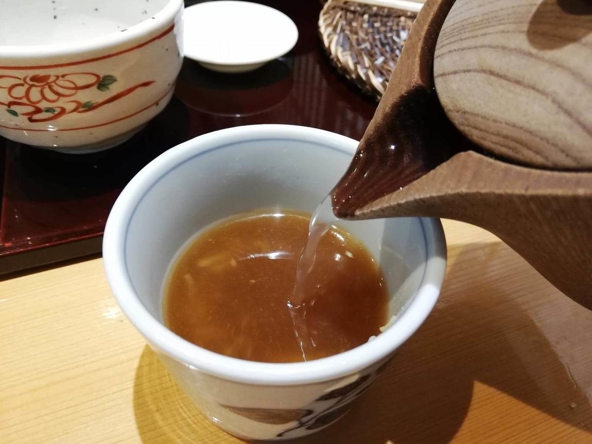 稲田堤『石づか』の蕎麦湯の写真