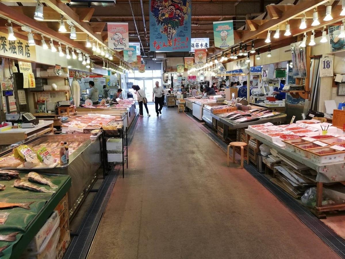 秋田市民市場の場内写真⑤