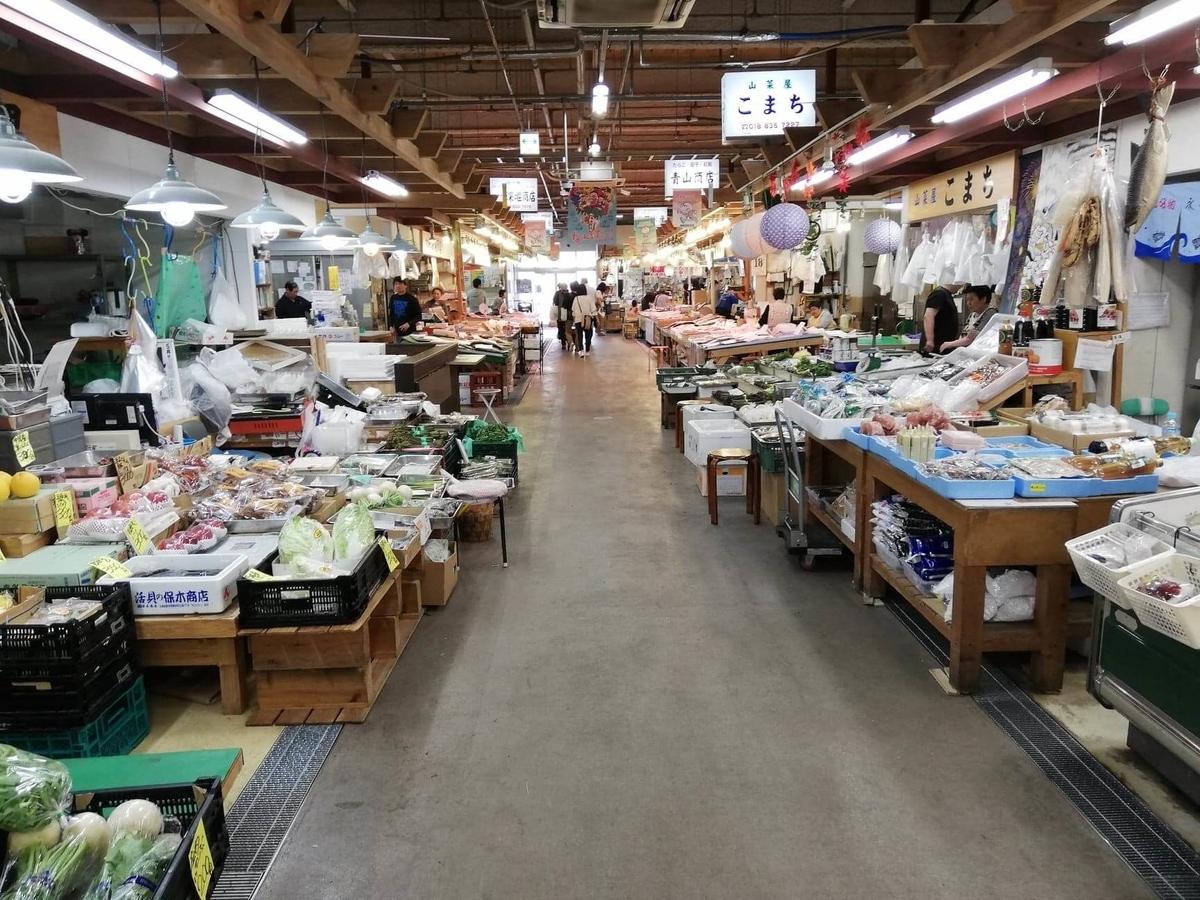 秋田市民市場の場内写真⑦