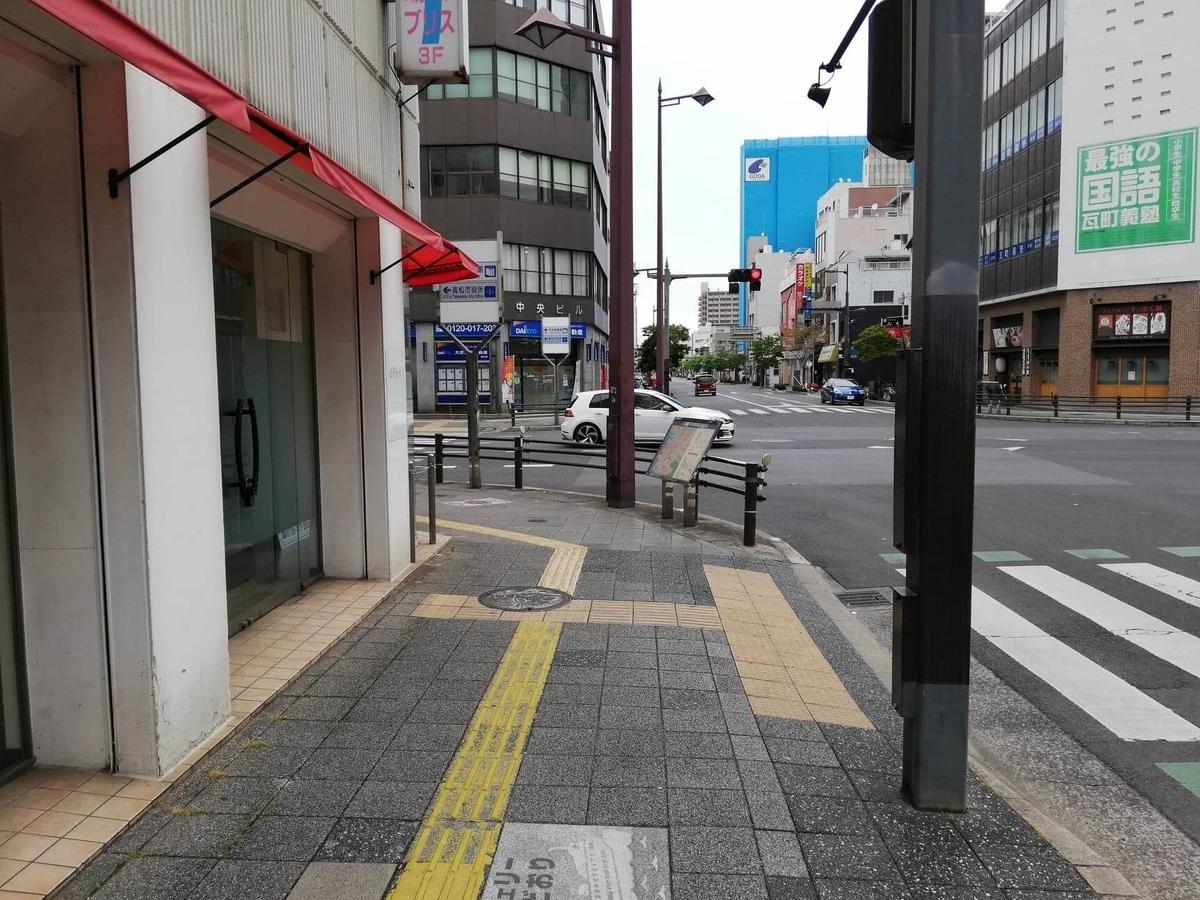 瓦町駅から香川県高松市『骨付鳥一鶴』への行き方写真⑨