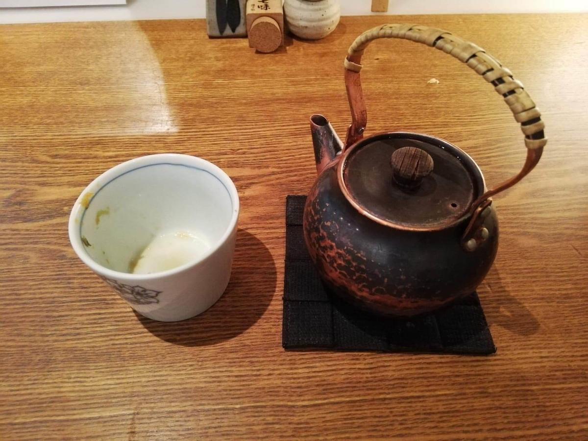 浦和『分上野藪(わけうえのやぶ)かねこ』の蕎麦湯の写真