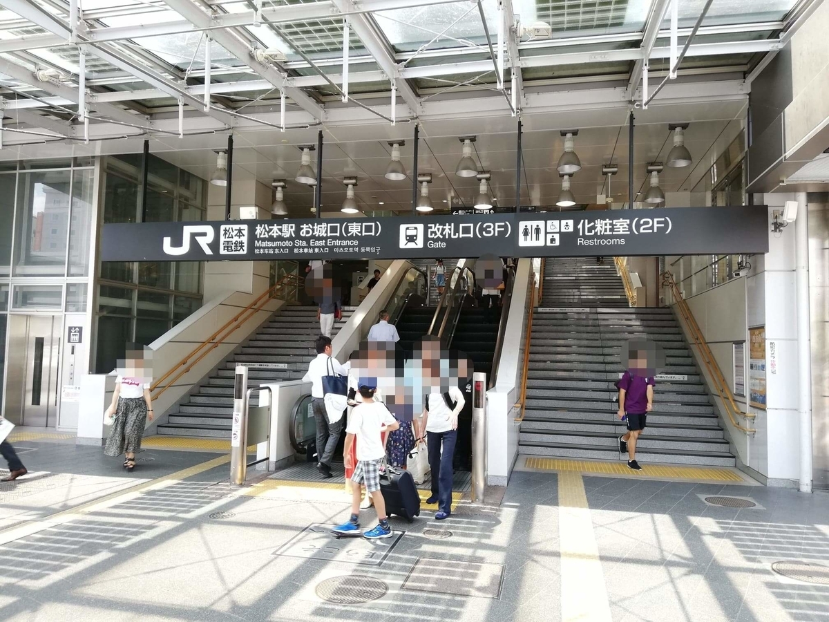 松本駅から、長野県松本市さくら料亭(馬肉料理)『新三よし』への行き方写真①