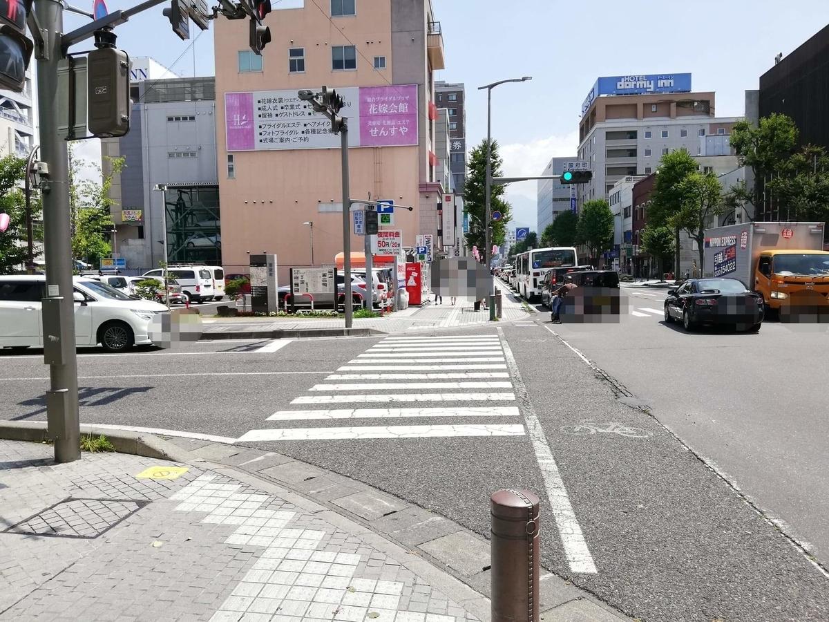 松本駅から、長野県松本市さくら料亭(馬肉料理)『新三よし』への行き方写真⑦