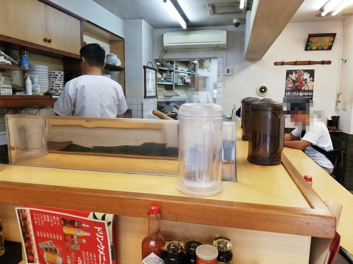 東中野『大盛軒』の店内写真①