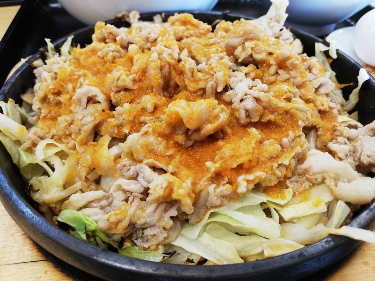 東中野『大盛軒』の鉄板麺のアップ写真