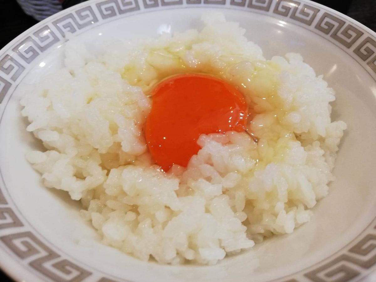 東中野『かしわぎ』の紅玉のTKGの写真
