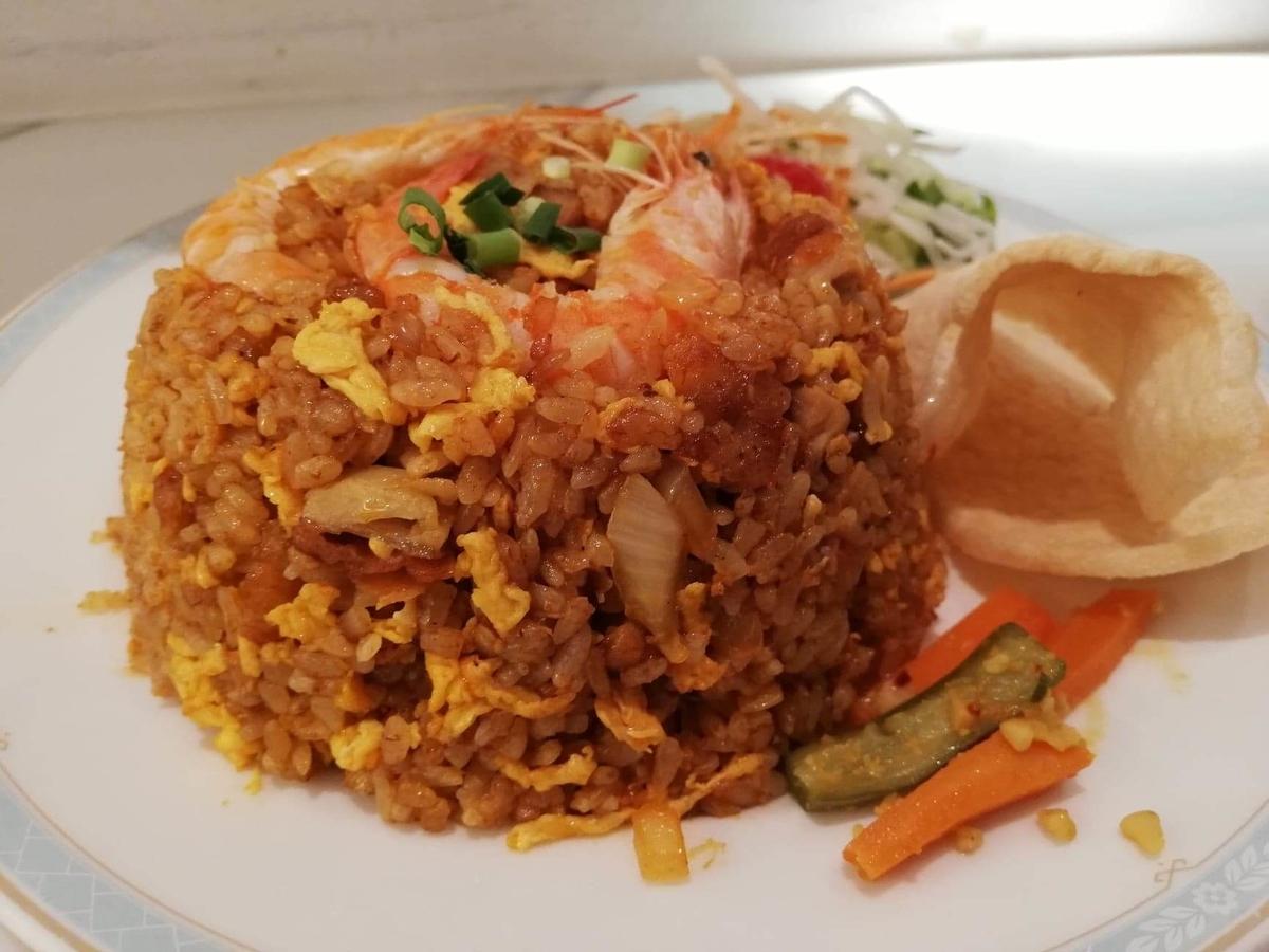 盛りもり祭2019『シンガポール海南鶏飯』のナシゴレンプレート(マレー風炒飯)の写真