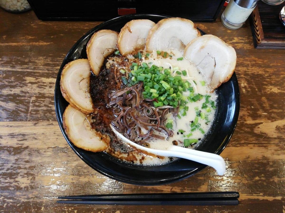 練馬『麺屋黒田』のチャーシュー麺の写真