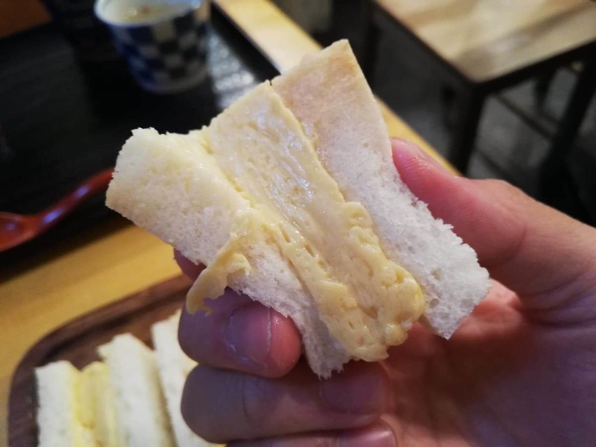 本川越『小江戸オハナ』の、貴婦人の卵サンドのアップ写真