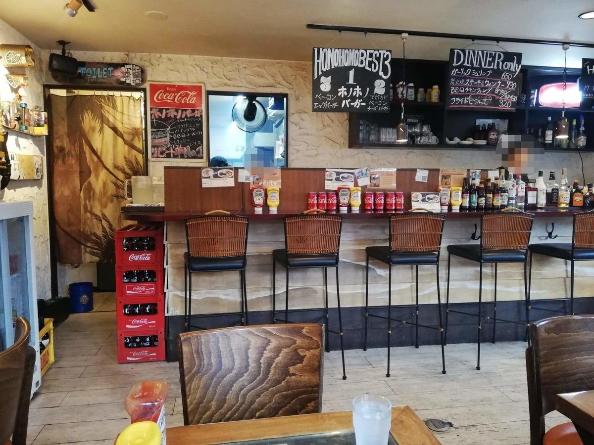 本川越『バーガーカフェホノホノ(BurgerCafe honohono)』の店内写真②
