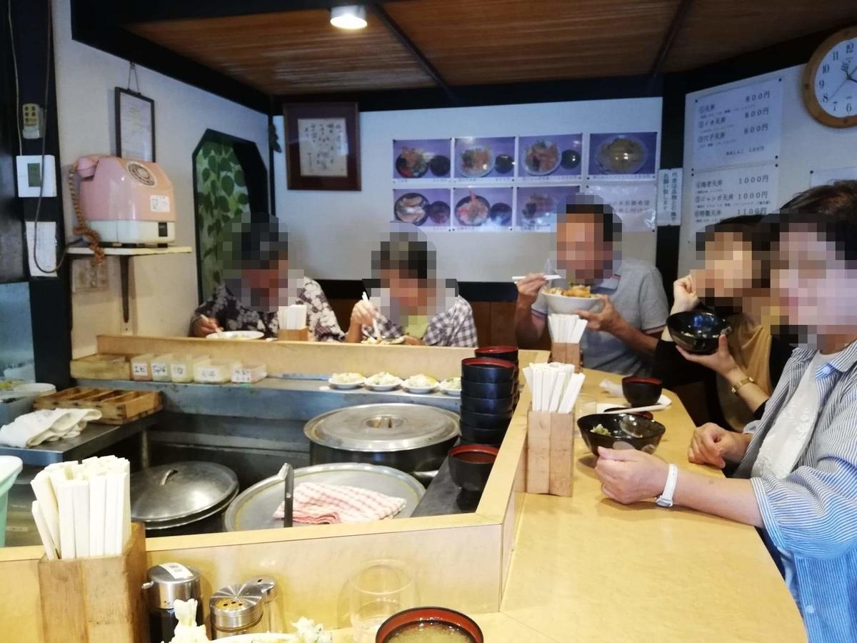 池袋『天丼ふじ』の店内写真③