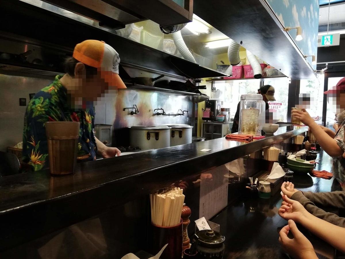 武蔵浦和『麺匠むさし坊』の店内写真①