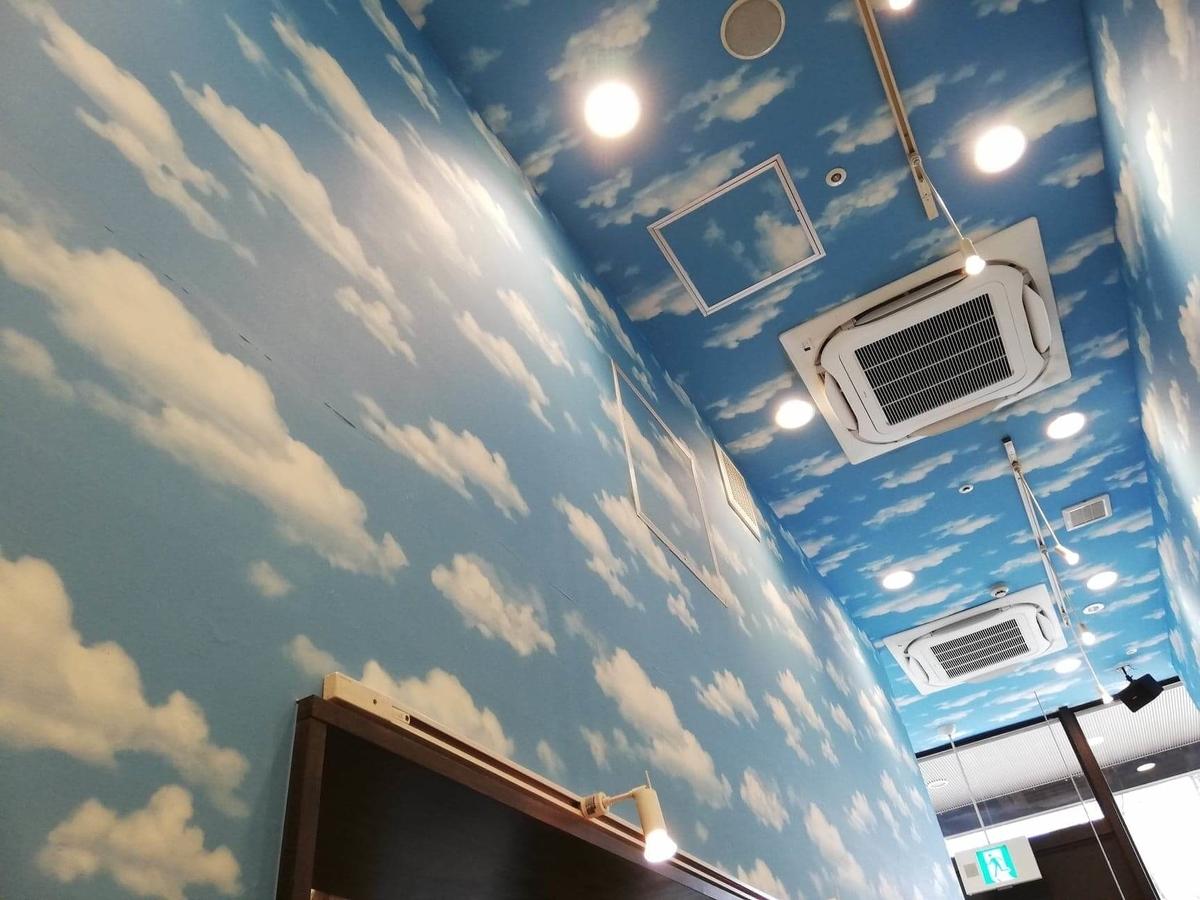 武蔵浦和『麺匠むさし坊』の天井写真