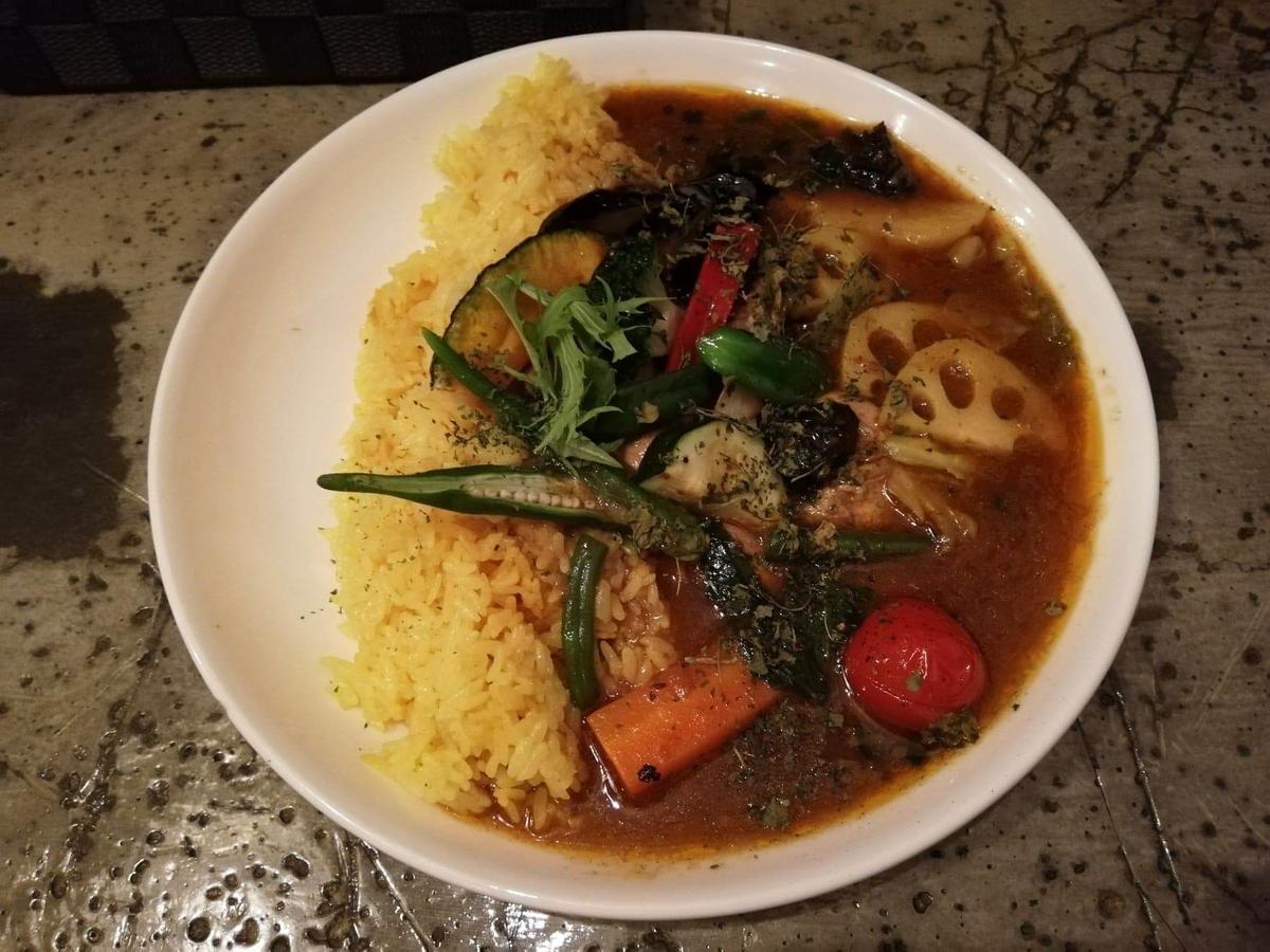 本川越『ぽか羅』のチキン野菜カレーの写真