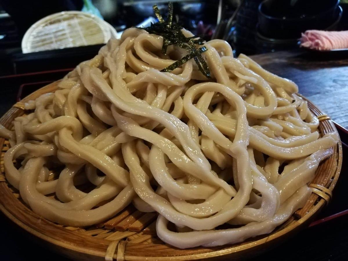 新座(保谷駅)『うどんや藤』の肉うどんのアップ写真