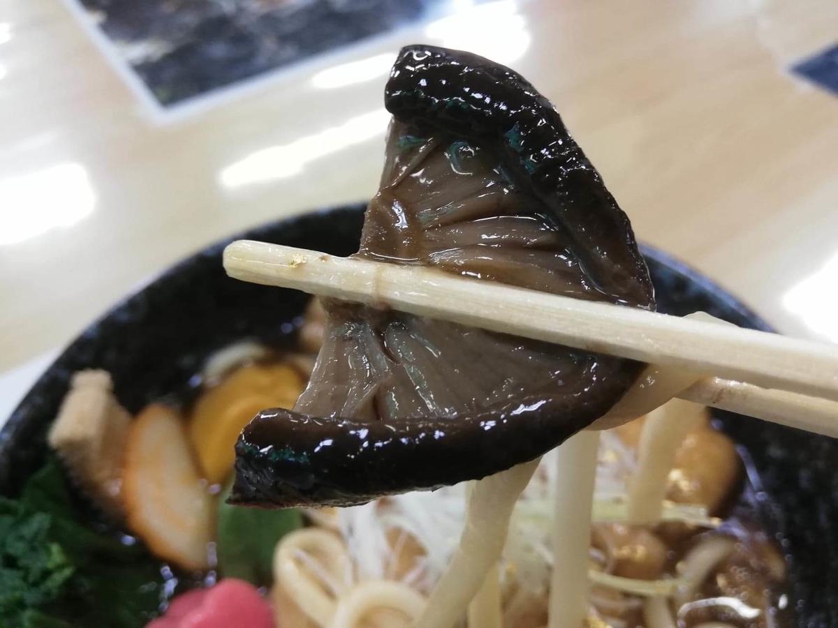 石川県金沢市兼六園近く『城山亭』の、治部煮うどんの具材のアップ写真①