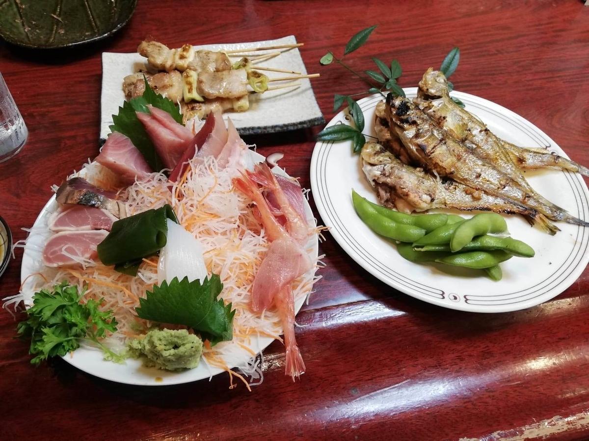 金沢市中央卸売市場『三四味屋』の残り少しのフードの写真