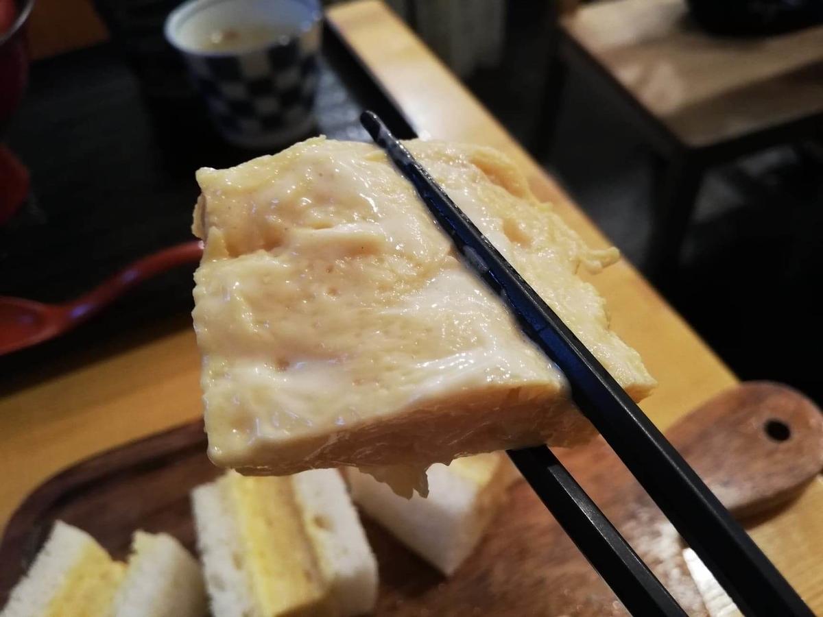 本川越『小江戸オハナ』の卵のアップ写真