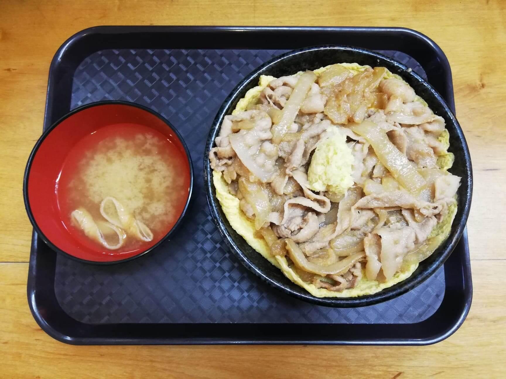 江古田『笑姜や』の、理想の生姜焼き丼の写真
