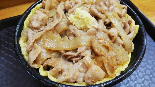 江古田『笑姜や』の、理想の生姜焼き丼のアップ写真