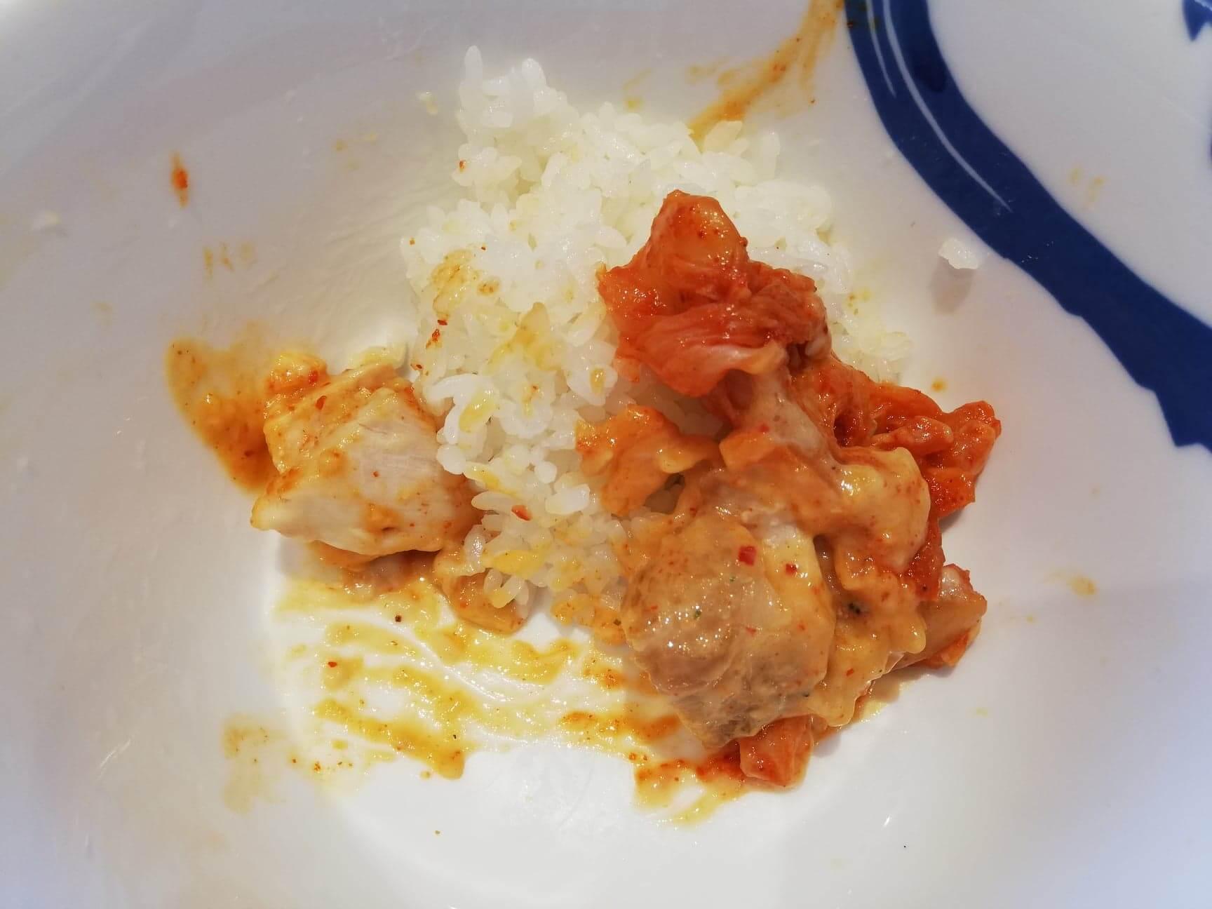 残り少しの、松屋『シュクメルリ鍋定食』の写真