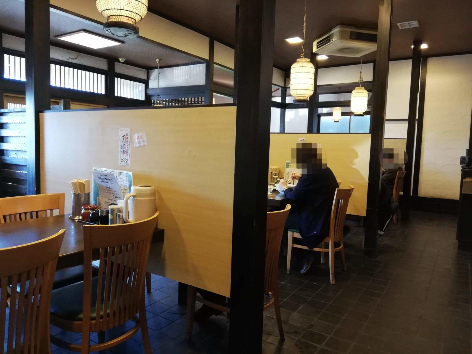 新座『三珍富士力食堂』の店内写真②