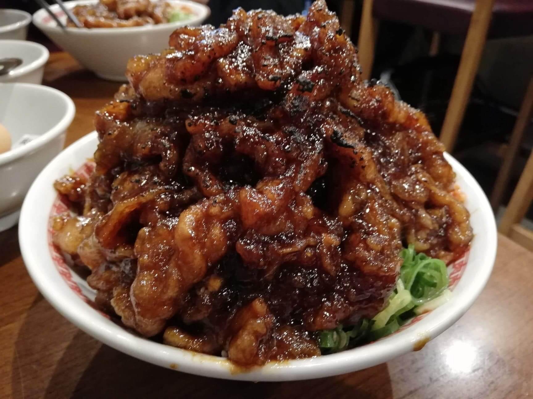 高田馬場『肉汁麺ススム』の肉汁丼の写真